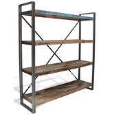 Brooklyn Industrial Shelving Unit - traditional - bookcases cabinets and computer armoires - Alexander & Pearl Vintage Industrial Furniture, Industrial Table, Industrial Interiors, Industrial Office, Industrial Decorating, Rustic Office, Rustic Table, Industrial Lighting, Rustic Wood