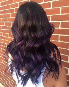 wedding hair color 22 Stunning Purple Ombre Hair Color Ideas Y. - wedding hair color 22 Stunning Purple Ombre Hair Color Ideas Y… wedding hair color 22 Stunning Purple Ombre Hair Color Ideas You Have to See Brown To Purple Ombre, Dyed Hair Purple, Brown Ombre Hair, Hair Color Purple, Hair Dye Colors, Brown Hair Colors, Lilac Hair, Pastel Hair, Green Hair