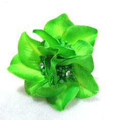 HairFlowers.net - Green Hair Flower Clip Pin and Pony 3-in-1, $4.99 (http://www.hairflowers.net/hair-flowers/other/green-hair-flower-clip-pin-and-pony-3-in-1.html)