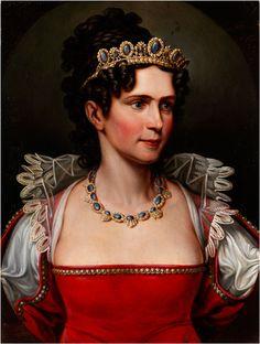 Princess Caroline Friederike Wilhelmine (1776 - 1841), daughter of Crown Prince Karl Ludwig of Baden.
