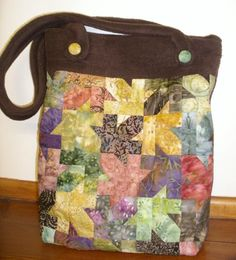 Quilted Tessellating Autumn Leaves Tote Bag - PDF Pattern