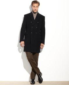 Tommy Hilfiger Burbank Cashmere-Blend Overcoat Classic Fit