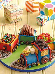 View top-quality stock photos of Train Cake. Thomas The Train Birthday Party, Trains Birthday Party, Train Party, 4th Birthday Cakes, 1st Boy Birthday, Thomas Cakes, Cakes For Boys, Occasion Cakes, Girl Cakes