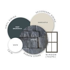 Looking for a DIY stone veneer? Durata Stone is the perfect solution. This do-it-yourself stone installs easily and without any using mortar. Click through to learn more. House Siding, House Paint Exterior, Exterior Siding, Exterior Remodel, Exterior House Colors Combinations, Exterior Color Palette, Exterior Paint Colors, Decorating Blogs, Interior Decorating