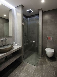 Project: Detailed design and supervision of a private house Location: Voula-Athens Status: Construction: Leonidas Maniotis & Associates Photography: Pantelis Marlagoutsos. Small Bathroom, Master Bathroom, Bathroom Ideas, Bathrooms, Beautiful Bedrooms, Bedroom Wall, Bathtub, Indoor, Shower