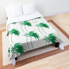 Palm trees Everywhere Comforter College Dorm Rooms, College Dorm Bedding, Make Your Bed, Beach Travel, Square Quilt, Twin Xl, Palm Trees, Quilt Patterns, Comforters
