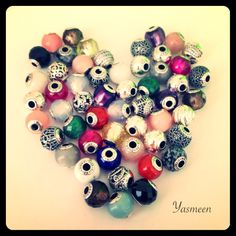 #PANDORAloves this colorful heart made of PANDORA ESSENCE COLLECTION charms.