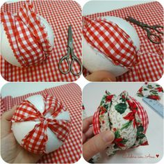1 million+ Stunning Free Images to Use Anywhere Country Christmas Decorations, Homemade Christmas Decorations, Easy Christmas Crafts, Christmas Sewing, Xmas Decorations, Christmas Projects, Handmade Christmas, Folded Fabric Ornaments, Quilted Christmas Ornaments
