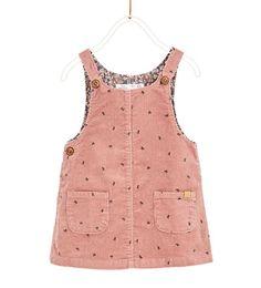BASIC CORDUROY PINAFORE DRESS-DRESSES-BABY GIRL | 3 months - 4 years-KIDS | ZARA United States