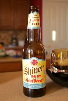 Shiner Ruby Redbird   Props to my friend, Jaime, for creating such a magnificent summer beer. Ginger and grapefruit. Its delicious!