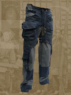 Rebel pants size until 6XL grey black