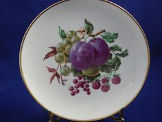 Vintage Bavarian China Hand Painted Plate by AlwaysPlanBVintage on Etsy