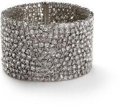 Rose cut diamond bracelet - Monique Pean