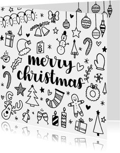 christmas drawings Kerstkaart - Merry C - Merry Christmas Gif, Merry Christmas Wallpaper, Christmas Doodles, Diy Christmas Cards, Christmas Colors, Xmas Cards, Christmas Art, Merry Christmas Drawing, Christmas Decorations