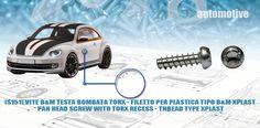 [S151]-VITE B&M VITE TESTA BOMBATA TORX - FILETTO PER PLASTICA TIPO B&M XPLAST - PAN HEAD SCREW WITH TORX RECESS - THREAD TYPE XPLAST