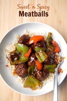 Easy dinner recipe for a 5 ingredient Sweet 'n Spicy Meatballs from 5DollarDinners.com