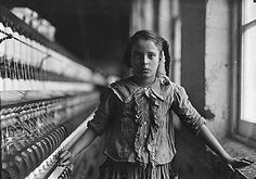 Photography depicting a child's life during the Industrial Revolution of 1860. I like how the young girl is emphasised through the focus is on her and the background is blurred. Also, the printing of the photo is in black and white which adds to the 'industrial' feel.