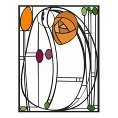 Art Nouveau Charles Rennie Mackintosh, In Fairyland, 1897 Stained Glass Flowers, Stained Glass Designs, Stained Glass Projects, Stained Glass Patterns, Stained Glass Art, Design Art Nouveau, Motif Art Deco, Art Nouveau Pattern, Art Nouveau Tattoo