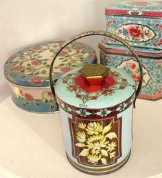 Tin Litho Metal Candy Box Shabby Cottage by Somethingcharming, $12.00