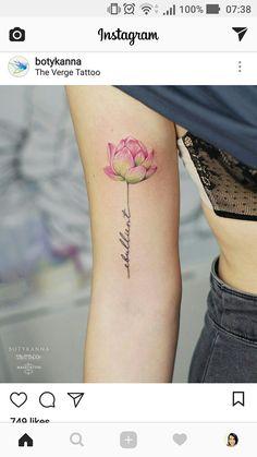 Ultra Pretty Tattoos for Women 2019 - TattooBlend - Text stem by Anna Botyk - Boho Tattoos, Mini Tattoos, Body Art Tattoos, Sleeve Tattoos, Pretty Tattoos For Women, Beautiful Tattoos, Power Tattoo, Type Tattoo, Tatoo Sakura