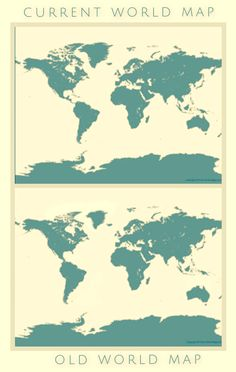 Okay, this isn't actually the Mandela Effect at all.  Newer maps have inflated countries. If you were to look at an accurate map, like the bottom one on this diagram, land masses like  Greenland would be smaller.