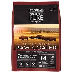 Canidae Pure Ancestral Raw Coated Red Meat Dog Food >>> You can find out more details at the link of the image. (This is an affiliate link) Venison Recipes, Dog Food Recipes, Types Of Food, Food Type, Flea Shampoo, Wild Bird Food, Dry Dog Food, Grain Free, Wild Boar