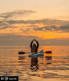 Awesome #liveyourquest Photo by @kayvdr #kayaking #sunset #aquaquest #waterproof #radgirlslife #rewildyourlife