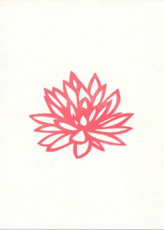 NEW Lotus Art Print 5 x 7 Hand Pulled Block Print by Creatiate