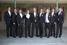 Craig, like his attendants, was handsomely attired in a black tuxedo featuring an ivory vest and bow tie. #groomsmen Photography: Stephanie Fay Photography. Read More: http://www.insideweddings.com/weddings/sophisticated-garden-inspired-wedding-in-phoenix-arizona/659/
