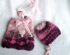 Newborm Mohair Skirt  Newborn Mohair Bonnet  Newborn by NRBDesigns, $48.00