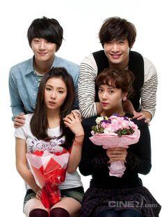 Yoon Shi Yoon ♥ Shin Se Kyung ♥ Daniel Choi ♥ Hwang Jung Eum ♥ Couples from High Kick Trough The Roof …
