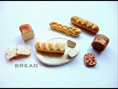 BREAD (4-in-1 tutorial) - Polymer Clay Tutorial - YouTube