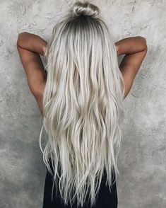Love that hair color and the waves... icy blonde