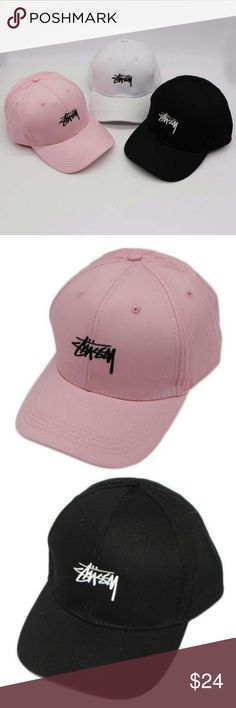 714bede4b54 Brand New Stussy Logo StrapBack Dad Cap Awesome and unique strap back hat  with Stussy logo