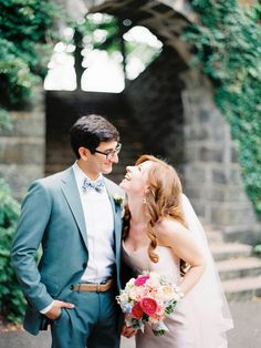 We can't help but smile when we look at these two cuties | Photo by Ahmet Ze via http://junebugweddings.com/wedding-blog/jewish-wedding-linden-terrace-fort-tryon-park/