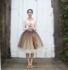 Thanksgiving brown and cream tutu for women. One of our popular tulle skirts, now with wide black ribbon waist. Brunette Models, The Brunette, Tutu Women, Lace Leotard, Ballet Fashion, Women's Fashion, Skirt Fashion, Fashion Photo, Bridesmaid