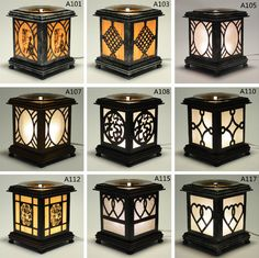 Aluminum Electric Scent Oil Tart Diffuser Warmer Burner Aroma Fragrance Lamp Home Decor Colors, Colorful Decor, Home Decor Accessories, Wooden Lanterns, Wooden Lamp, Modern Steel Gate Design, Electric Oil Warmer, Laser Cut Lamps, Woodworking Inspiration