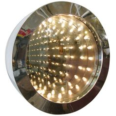 Modern Chrome Infinity Mirror by Curtis Jere   From a unique collection of antique and modern wall mirrors at http://www.1stdibs.com/furniture/mirrors/wall-mirrors/