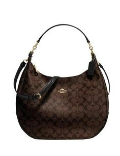 Coach Harley Hobo in Signature Coated Canvas