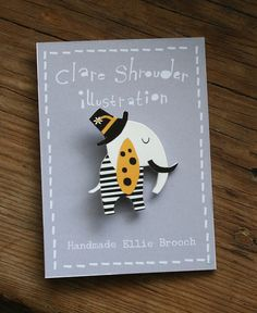 Shrink plastic ellie brooch