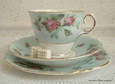 Pretty Pale Blue Vintage Colclough Tea Set by AlicesChinaCupboard