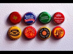 DIY Bottle Cap Magnets- Fun and easy project to do over the weekend. Just need buttons, bottle caps ( i have plenty of those) and some magnets and super glue