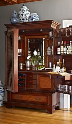 From the moment you first lay eyes on our Havana Barmoire, you know it will be a family heirloom for generations.  | Frontgate Interiors