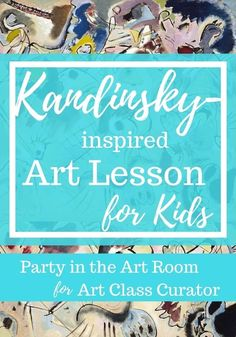 Easy and Fun Kandinsky Art Lesson for Kids - Explore Sketch by Wassily Kandinsky with your students and have them create an abstract art project in this Kandinsky art lesson! Abstract Art For Kids, Red Abstract Art, Abstract Expressionism Art, Art Lessons For Kids, Artists For Kids, Art Lessons Elementary, Elementary Education, Wassily Kandinsky, Kadinsky Art