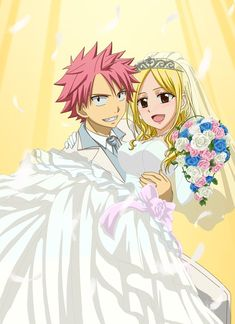 Natsu Dragneel & Lucy Heartfilia couple Fairy Tail
