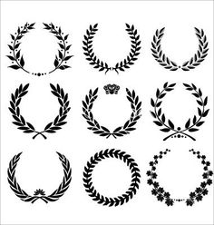 Illustration of Golden Shields And Laurel Wreaths Collection vector vector art, clipart and stock vectors. Laurel Tattoo, Laurel Wreath Tattoo, Tattoo Drawings, Body Art Tattoos, Tatoos, Tattoos For Guys, Tattoos For Women, Small Tattoos For Men, Tatuagem Old Scholl