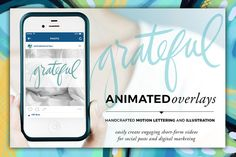 Animated Overlay - Grateful (Script) by Baron Art Co. on @creativework247