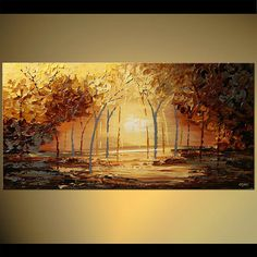 60 Landscape Painting Art by Osnat.    As this is a MADE-TO-ORDER painting, it will be similar to the one you see here, that I have already sold. Time frame to create it is 5-6 business days. The painting will be textured as I will use a palette knife to create it. The painting will be ready to hang, sides / edges will be painted as a continuation of the painting.    Dawn    60 x 30 thick    Acrylic on wrapped stretched canvas    A Certificate of Authenticity is always provided.    All my…