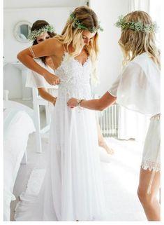 Outdoor Summer Weddings Dress Beach Wedding Dresses 2017 Open Back