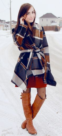 Must Love Plaid and Boots to like this outfit - we do #Teens #teenstyle #fashion
